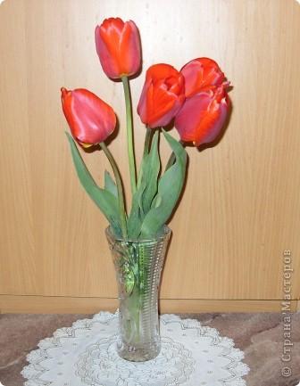 Тюльпаны из бисера фото 2