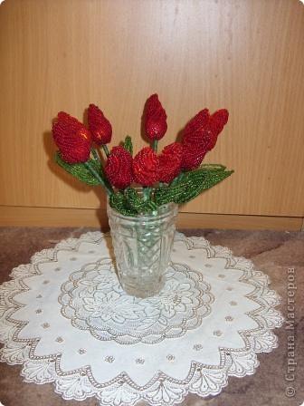 Тюльпаны из бисера фото 1