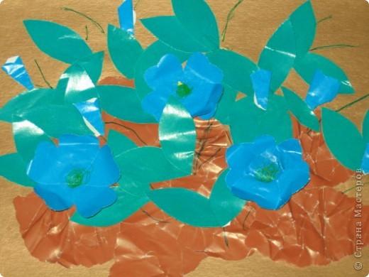 Эти барвинки я делала вместе с мамой. фото 1
