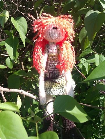 куколка Солинка - мой вязаный рыжик фото 6