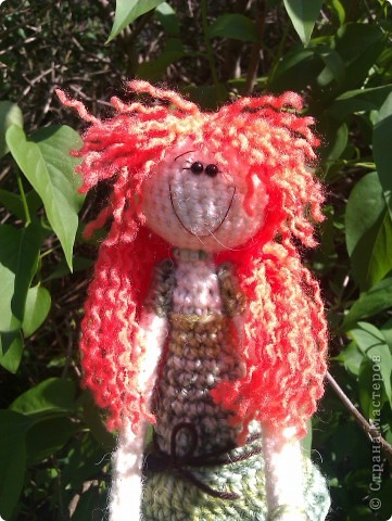 куколка Солинка - мой вязаный рыжик фото 1