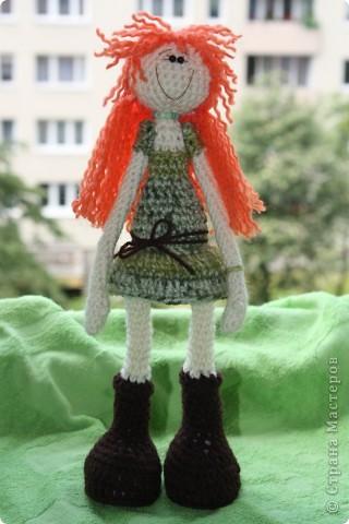 куколка Солинка - мой вязаный рыжик фото 2