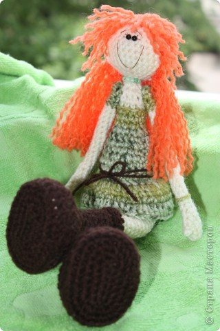 куколка Солинка - мой вязаный рыжик фото 4