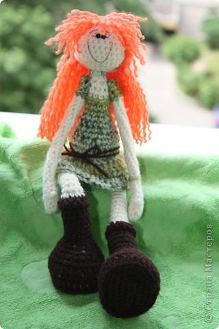 куколка Солинка - мой вязаный рыжик фото 5