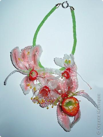 """Колье """"Орхидеи"""" На его создание меня вдохновили удивительные цветы орхидей. фото 1"""