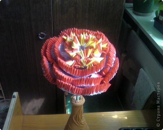 Мой ПИОН в технике модульного оригами. фото 3