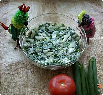 Девчонки и мальчишки! А так же их родители! Весеннего салатика отведать, не хотите ли? Давно мы с попугаями не угощали вас… Салат «Весна на Севере» покажем мы сейчас! Ну, а дальше в прозе…  фото 8