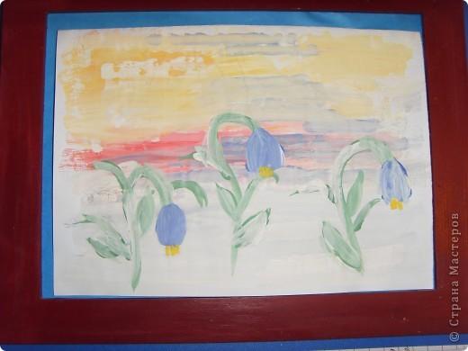 Весна в окошко заглянула, хотя и с опозданием... Ждала ее я раньше... И стала  рисовать, и представлять, Как вся природа будет просыпаться.  фото 2