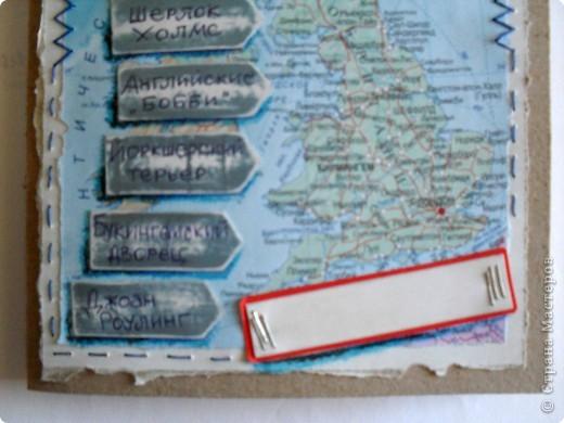 Тетрадь простая для записи иностранных слов. Фон-карта Великобритании. Специально не использовала скраповские штучки, хотелось достичь задуманного эффекта простыми путями. фото 2