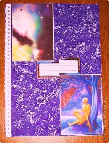 Здравствуйте, Мастера, подмастерья и ученики. Вот такая у меня теперь тетрадь по физике. Но как сделать такую обложку? фото 1
