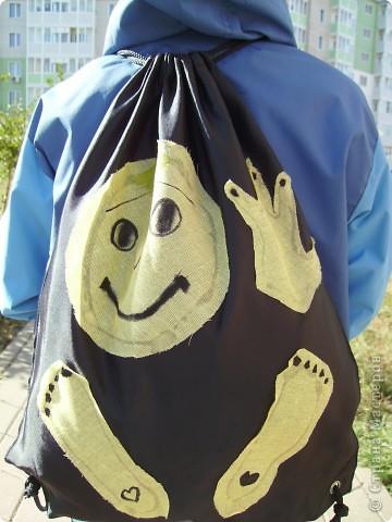 Это рюкзак для спортивной формы. В этом году я стал посещать спортивную секцию. фото 1