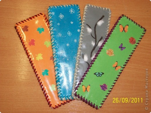 Закладки для дневников по сезонам. фото 1