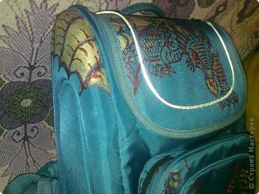 Моему Тимошке подарили синенький ранец. Удобный, но скучный. фото 4
