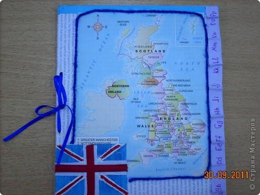 Обложка для тетради по английскому языку.  фото 1