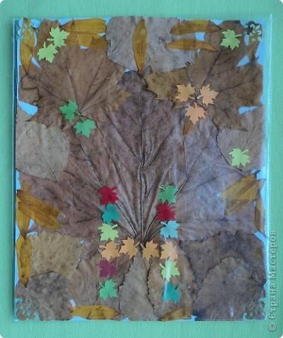 Осенняя обложка для тетради. фото 3