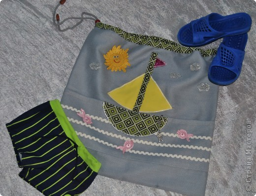 Такую морскую сумочку носит мой сынка в садик, но думаю и в школу тоже подойдет :-) фото 2