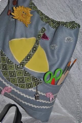 Такую морскую сумочку носит мой сынка в садик, но думаю и в школу тоже подойдет :-) фото 3