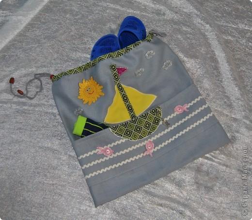Такую морскую сумочку носит мой сынка в садик, но думаю и в школу тоже подойдет :-) фото 4
