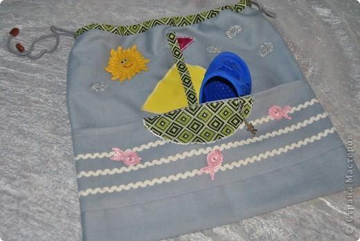 Такую морскую сумочку носит мой сынка в садик, но думаю и в школу тоже подойдет :-) фото 8