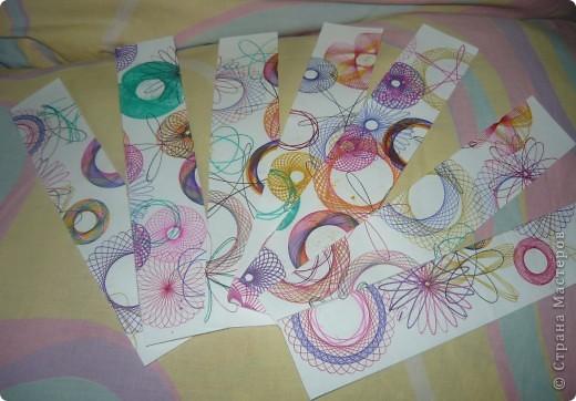 Эти материалы понадобятся для изготовления закладок. Спирограф (ура, я наконец его купила), белый картон и цветные ручки(забыла сфоткать) фото 2