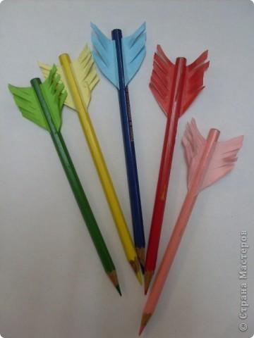 Сделаем пенал (колчан со стрелами) для охоты за знаниями и хорошими оценками. фото 5