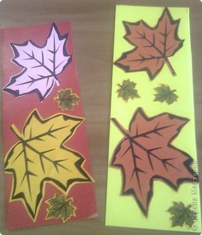 """Эти закладки я сделала на уроке технологии. Сейчас использую их в учебнике """"Литературное чтение"""" на страницах по теме """"Осень""""."""
