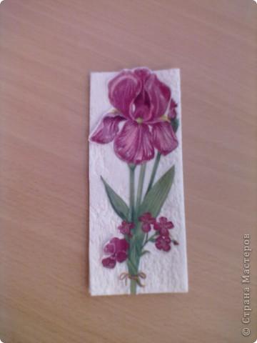 Цветочная закладка фото 1