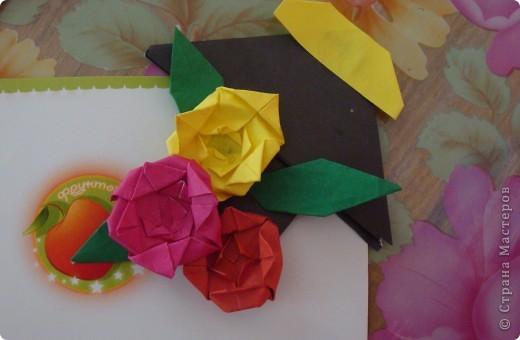"""Закладка - фигура стрела, розочки на основе базовой формы """"блинчик"""" фото 2"""