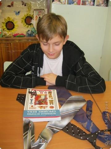 Галстук с российским триколором фото 2