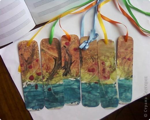 Закладки выполнены в технике энкаустика. фото 5