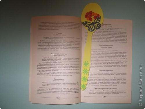 Здравствуй, «Страна Мастеров»!!! Моя идея очень необычная: решила создать закладку для кулинарной книги, которой пользуюсь во время приготовления тортов на уроках технологии. В этом учебном году мы будем стряпать торты, планируем провести  конкурс рецептов, вот и решила принять участие в  создании оригинальной закладки!  фото 5