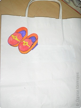 """мешочек для сменной обуви """"кот в сапогах"""" фото 3"""