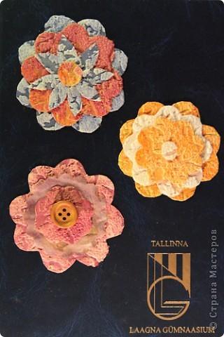 Цветочки из обоев. фото 3