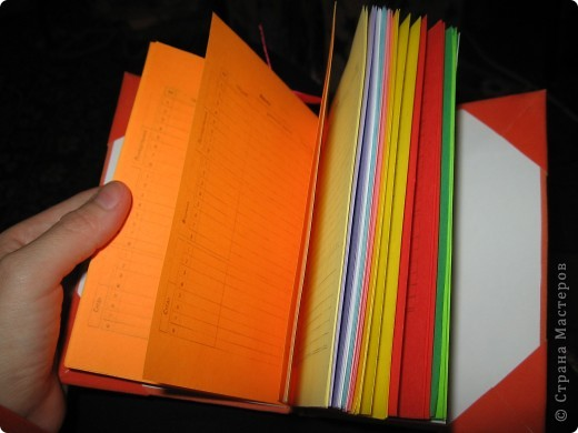 Мини-дневник (самодельный). Для удобства, на работу, решила сделать себе мини-дневник, куда буду записывать план работы и задания для уроков. фото 1