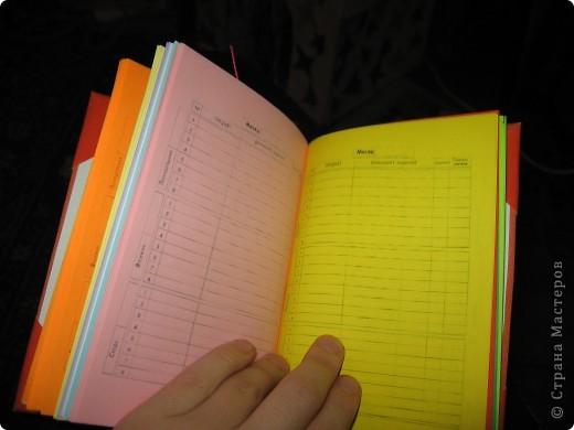 Мини-дневник (самодельный). Для удобства, на работу, решила сделать себе мини-дневник, куда буду записывать план работы и задания для уроков. фото 8