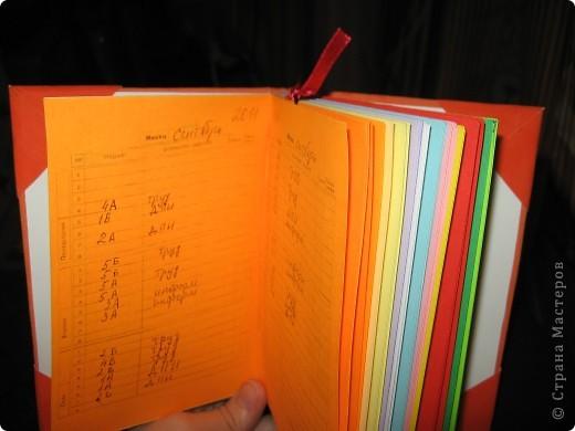 Мини-дневник (самодельный). Для удобства, на работу, решила сделать себе мини-дневник, куда буду записывать план работы и задания для уроков. фото 9