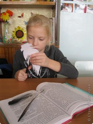 """Перо- закладка для учебника""""Литературное чтение"""" фото 2"""