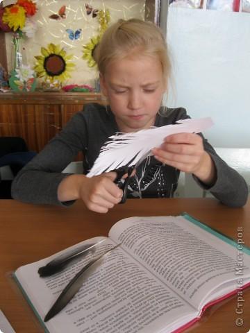 """Перо- закладка для учебника""""Литературное чтение"""" фото 3"""
