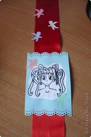 Закладка для дневника с аниме фото 1