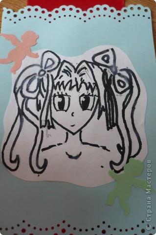 Закладка для дневника с аниме фото 2