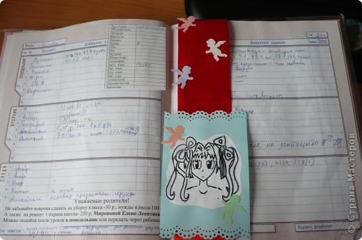 Закладка для дневника с аниме фото 4
