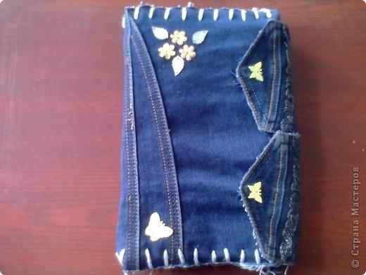 Тетрадь в джинсовой обложке фото 1