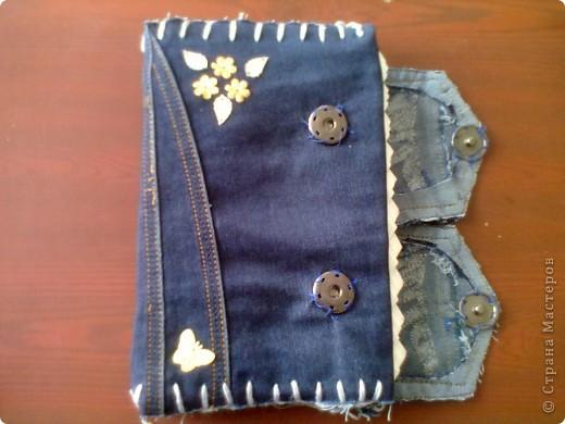 Тетрадь в джинсовой обложке фото 2