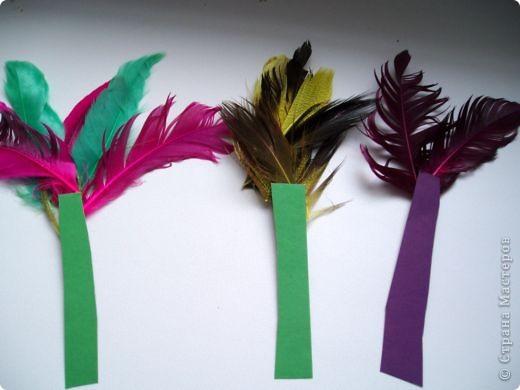 Закладки с перьями фото 1