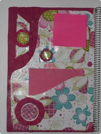 Закладка делается быстро из красивой упаковочной бумаги, напоминающей аппликацию на ткани. Делается из полоски сложенной в 4 слоя бумаги. Декорирована цветком-розеткой. Такую закладку легко сделать с ученицами. фото 7