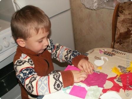 Обложка для творческой тетради для моего внука - 4,5 года. Вот такая получилась работа из остатков моего творчества. Клеил-клеил и что-то получилось. Решили выставить на конкурс. Санек потребовал разместить свою работу... фото 3