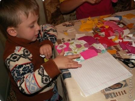 Обложка для творческой тетради для моего внука - 4,5 года. Вот такая получилась работа из остатков моего творчества. Клеил-клеил и что-то получилось. Решили выставить на конкурс. Санек потребовал разместить свою работу... фото 8