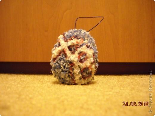 Вот такое красивое яйцо я сделала в технике торцевание. фото 7
