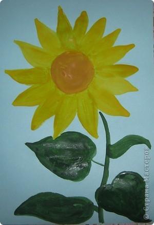 Вот такой золотой цветок-подсолнух получился у меня. фото 2