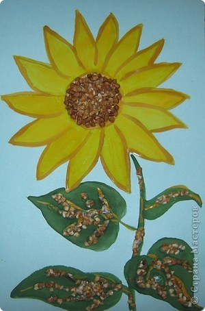 Вот такой золотой цветок-подсолнух получился у меня. фото 3
